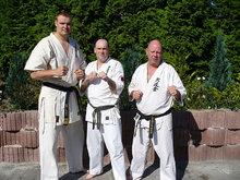 Od lewej: Shihan Sem Schilt, Sensei Dariusz Winiarski i Hansi Dave Jonkers