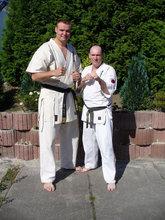 Od lewej Shihan Sem Schilt  i Sensei Dariusz Winiarski
