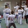 Trening technik Ashihara Karate